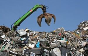 Scrap metal yard